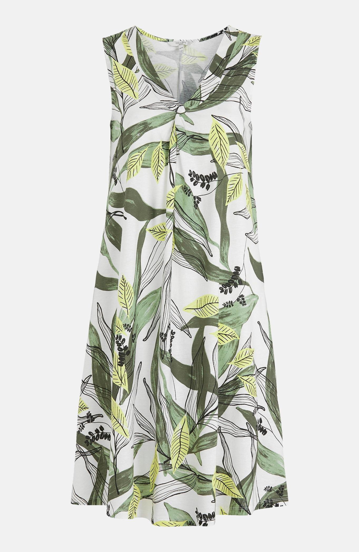 Úpletové šaty střihu do A se vzorem