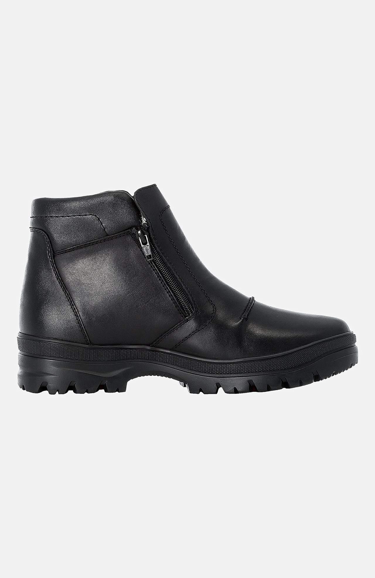 Vysoké kožené boty s teplou podšívkou
