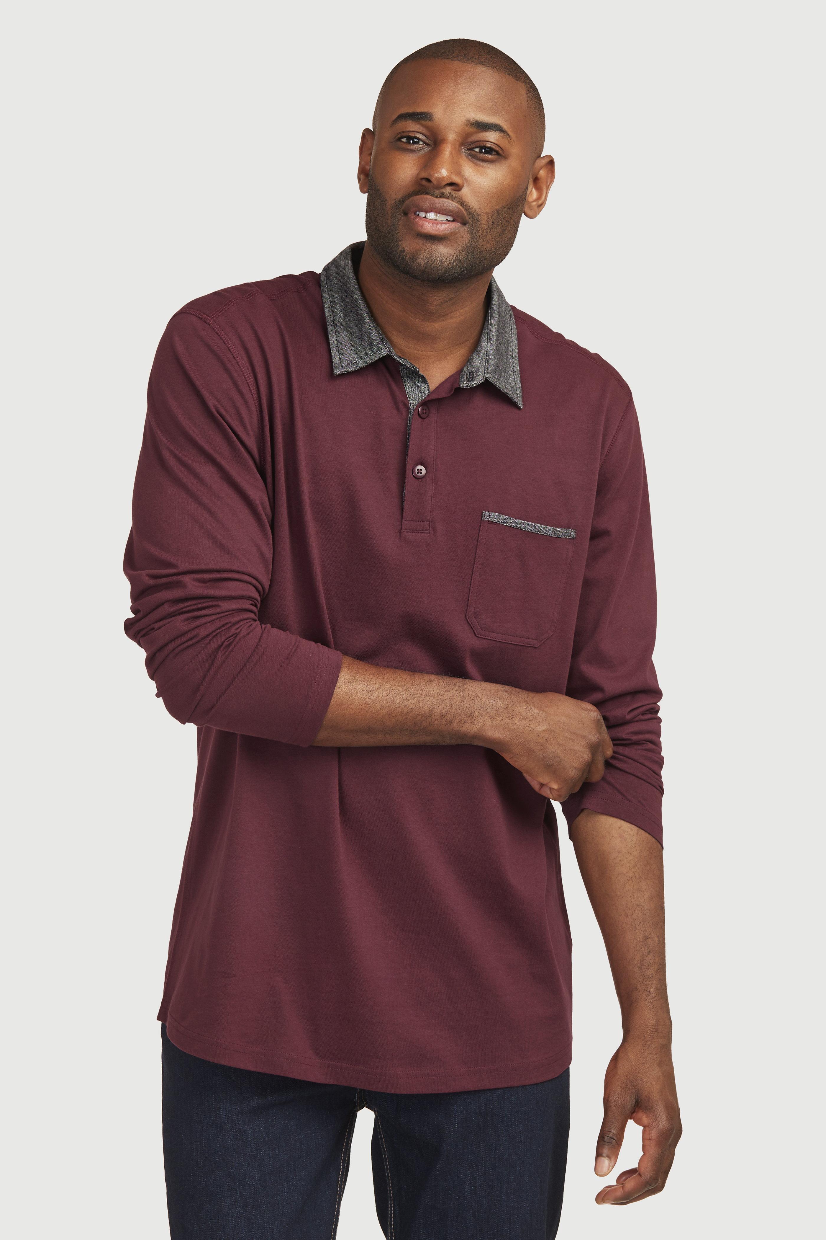 Pohodlný svetr s dlouhými rukávy s límcem