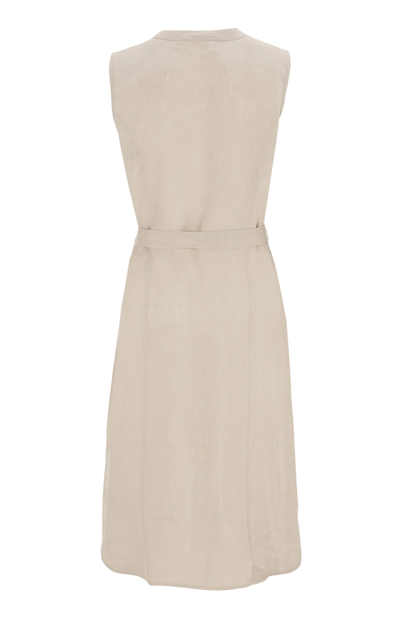 Lněné šaty s dřevěnými knoflíky