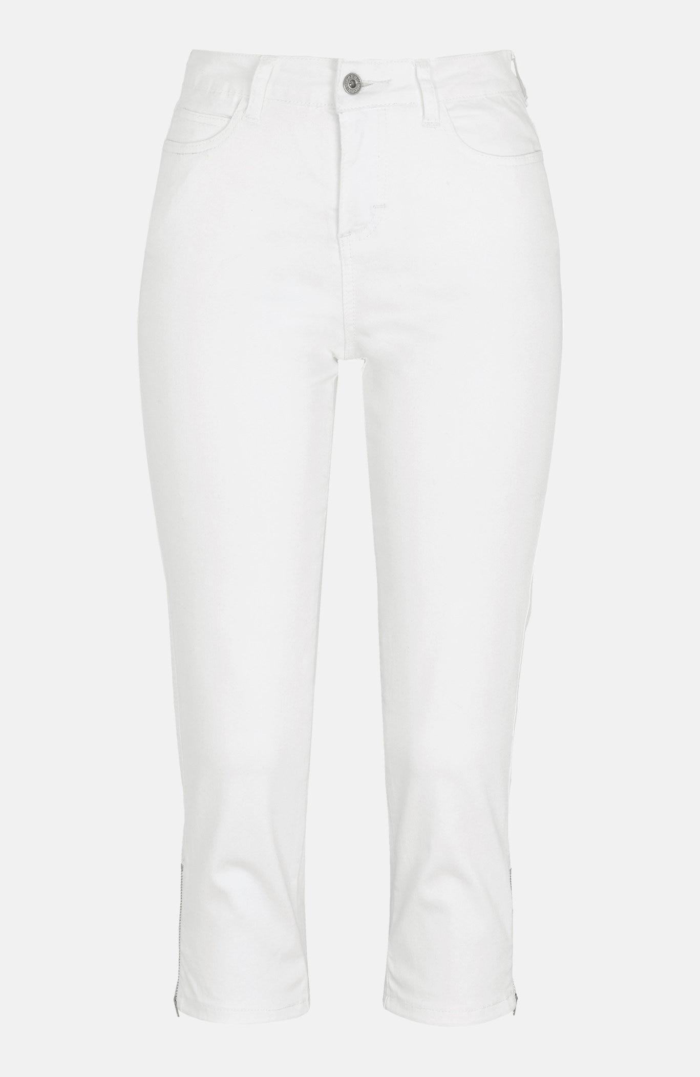 Capri kalhoty se zipem na lemu nohavic