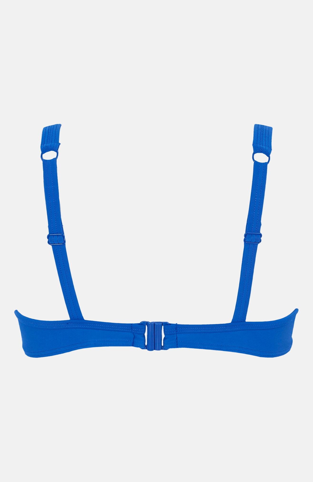 Modrá bikinová podprsenka s kosticemi